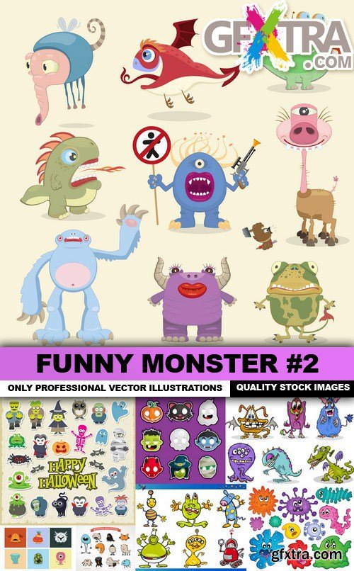 Funny Monster #2 - 25 Vector