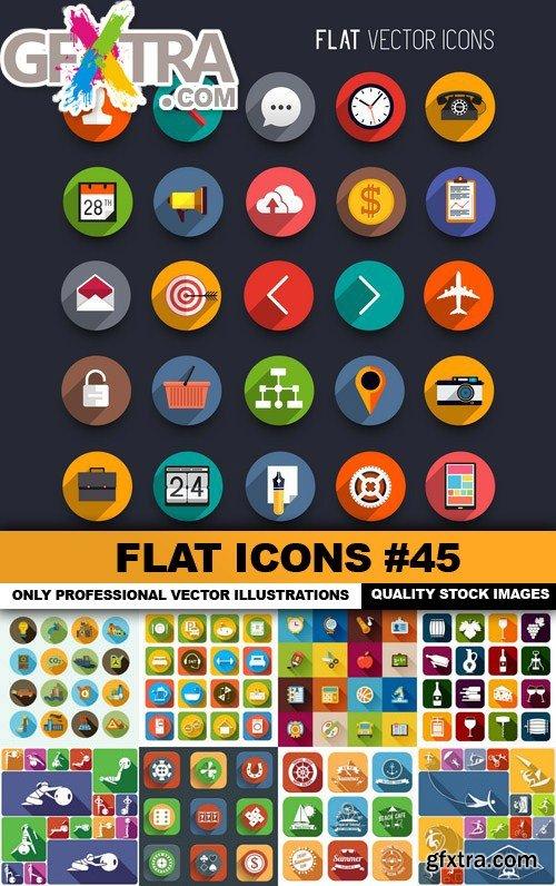 Flat Icons #45 - 25 Vectors