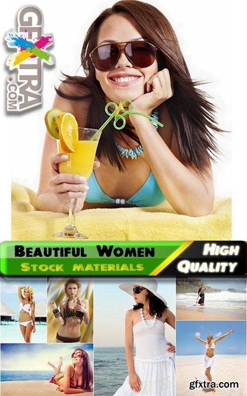 Beautiful Woman on Beach 25xJPG