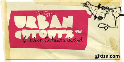 XXII Urban Cutouts Font Family - 3 Fonts for $22