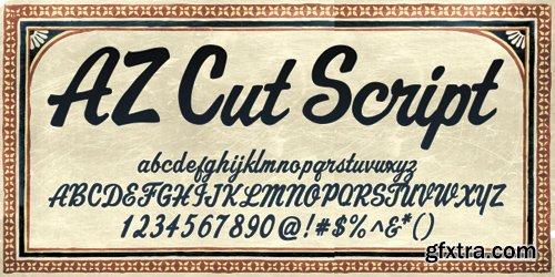 AZ Cut Script Font for $25