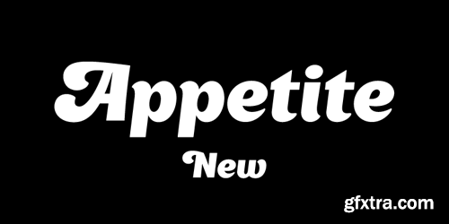 Appetite New Font for $49