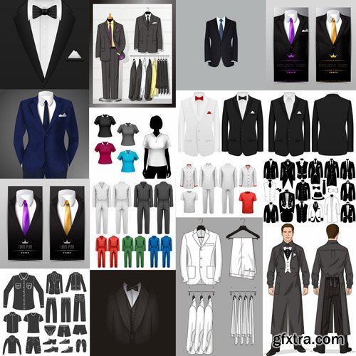 Suits Collection - 25 Vector