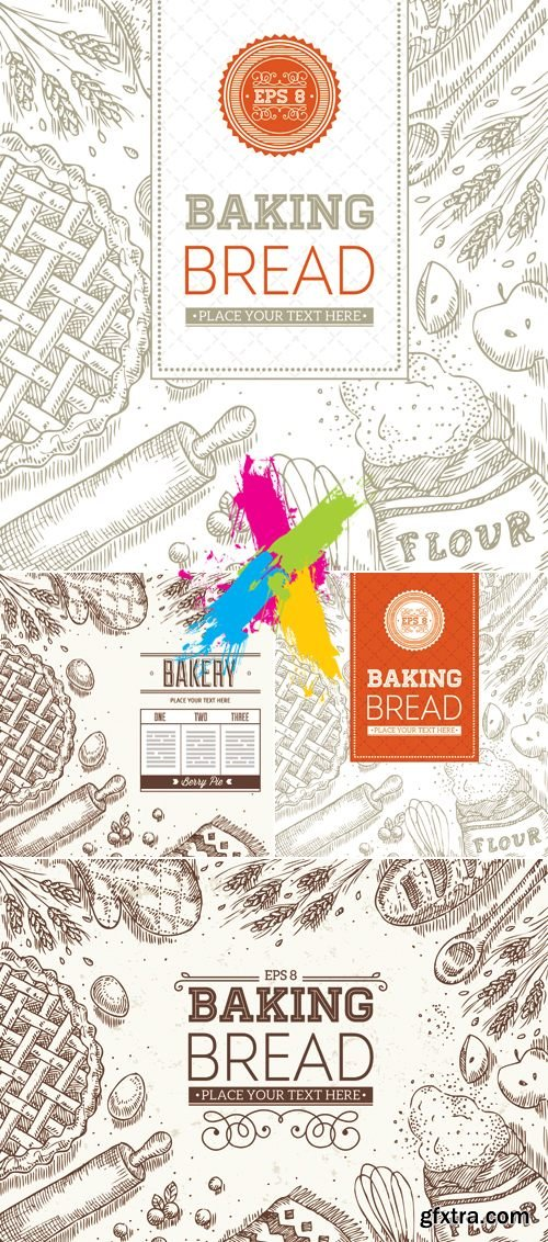 Baking Bread & Bakery Vector