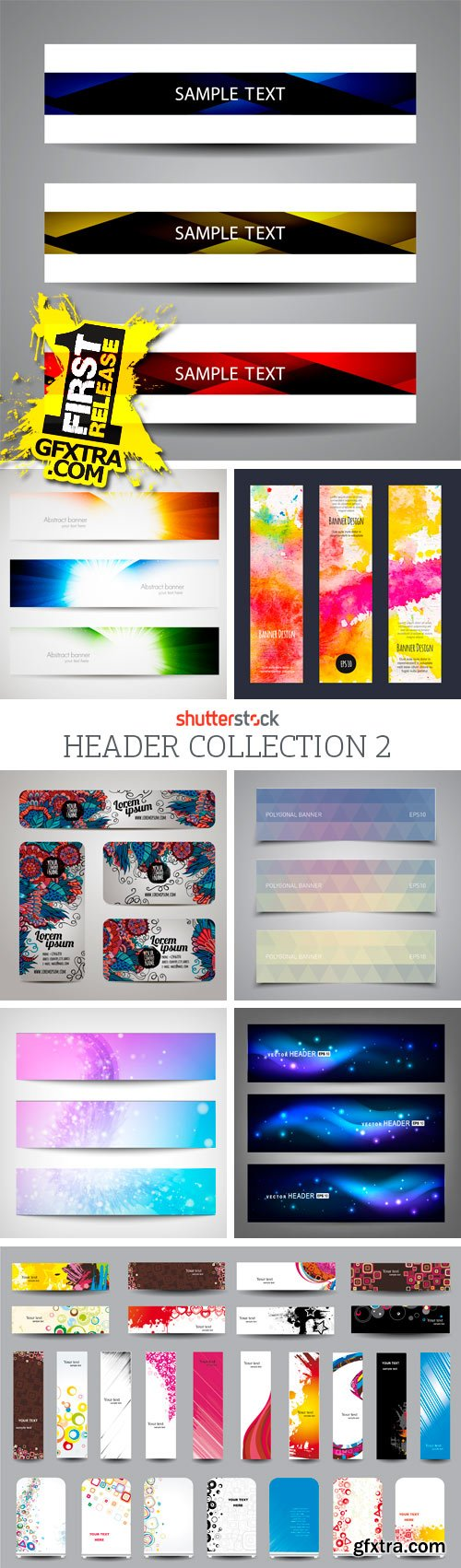 Amazing SS - Header Collection 2, 25xEPS