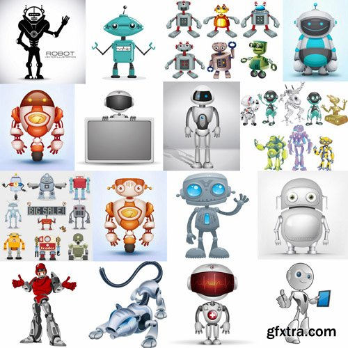 Cartoon Robot - 25 Vector