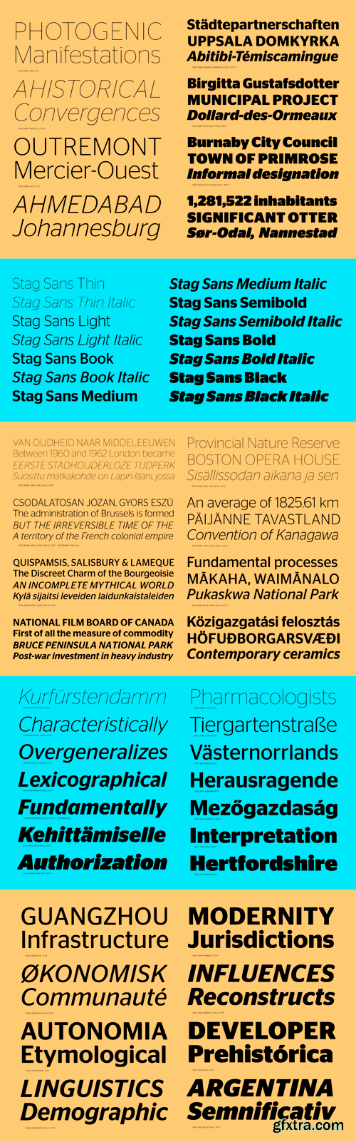 Stag Sans Font Family - 14 Fonts for $350
