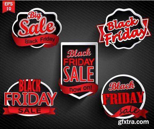 Stock Vectors - Black Friday Sale, 25xEPS