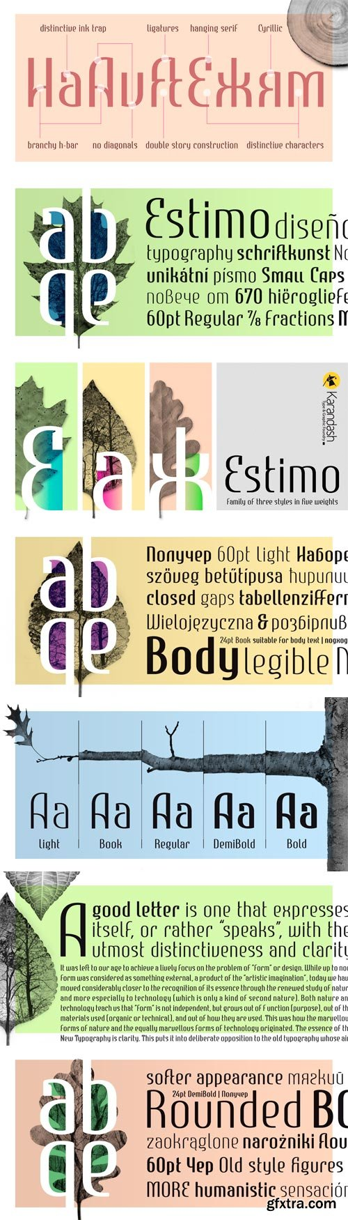 Estimo Font Family - 15 Fonts for $158