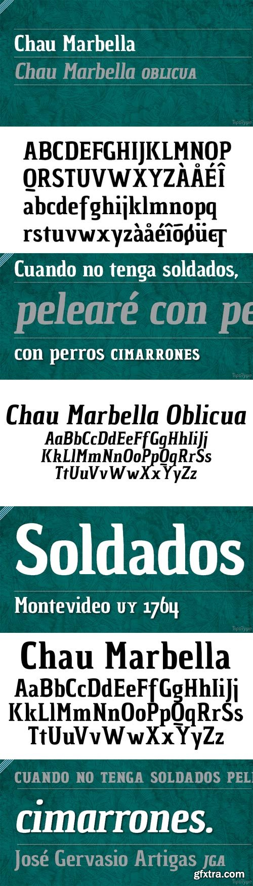 Chau Marbella Font Family - 2 Fonts for $20