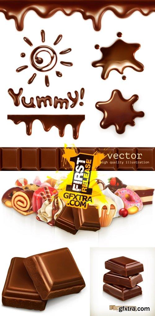 Chocolate Desserts Vector