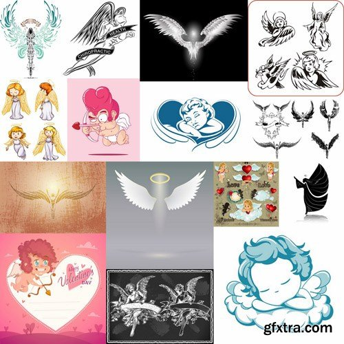 Angel Collection - 25 Vector