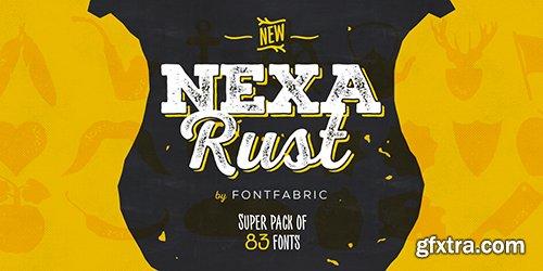 Nexa Rust Font Family - 83 Font $2191