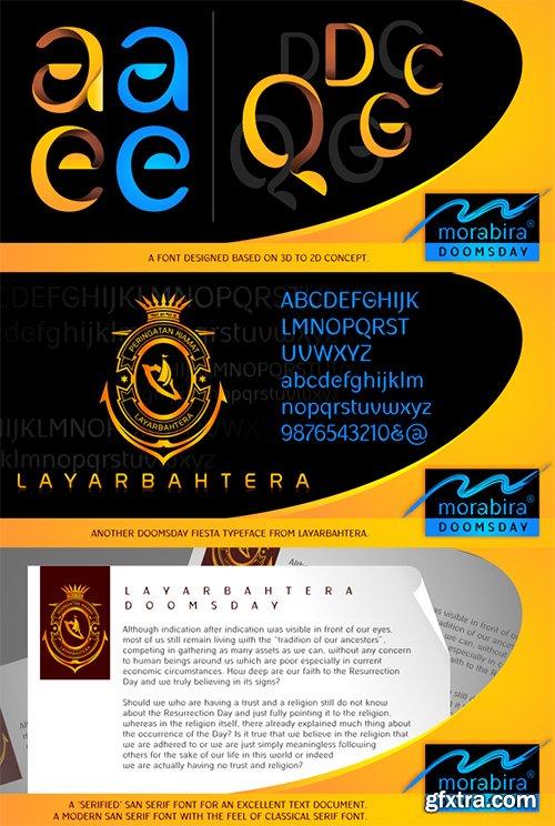 Morabira Doomsday Font Family - 4 Font 764$