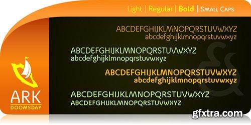 Ark Doomsday Font Family - 4 Font 180$
