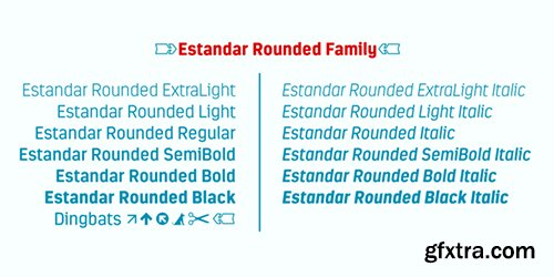 Estandar Rounded Family Font - 13 Font 275$