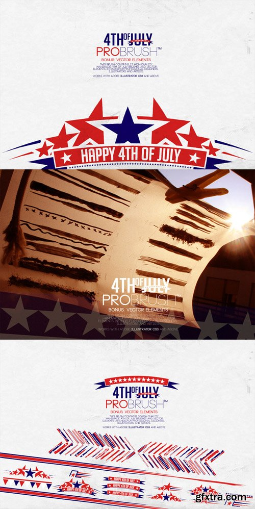 4th Of July - ProBrush plus Vectors