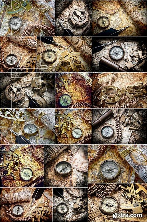 Old Maps and Navigation, 25xUHQ JPEG