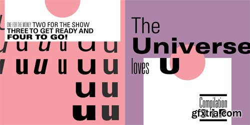 Univers Cyrillic Font Family - 19 Fonts for $551