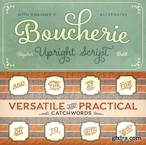 Boucherie Font Family - 16 Fonts $320