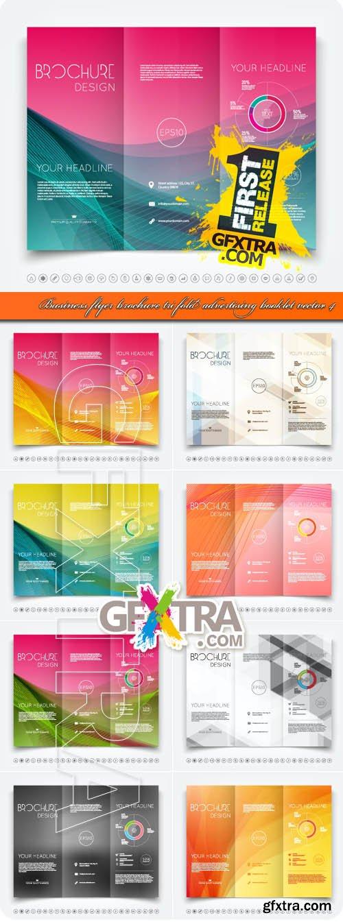 Business flyer brochure tri fold advertising booklet vector 4