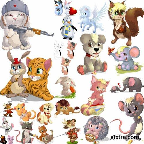 Mix Cartoon Illustration #22 - 50 Vector