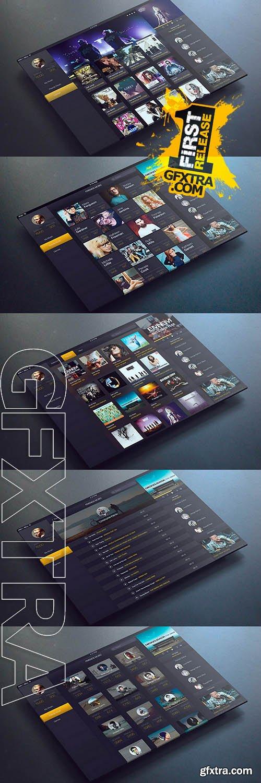 iPad Music App Ui - Creativemarket 89140