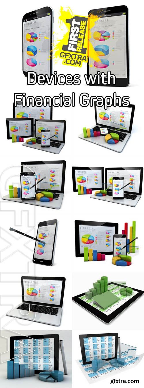 Stock Photos - Devices with Financial Graphs