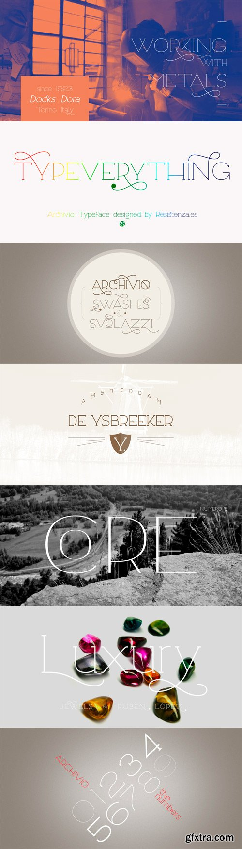 Archivio Font Family - 48 Fonts for $395