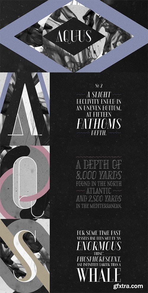 Aquus Font Family - 6 Fonts $234