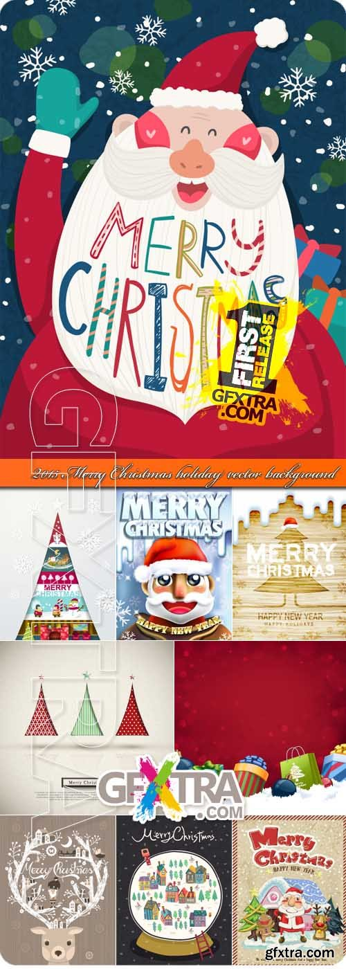 2015 Merry Christmas holiday vector background