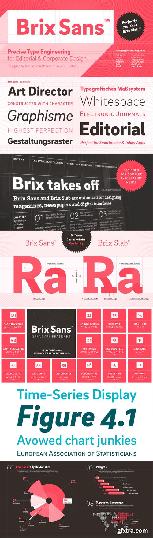 Brix Sans Font Family - 12 Fonts for $249