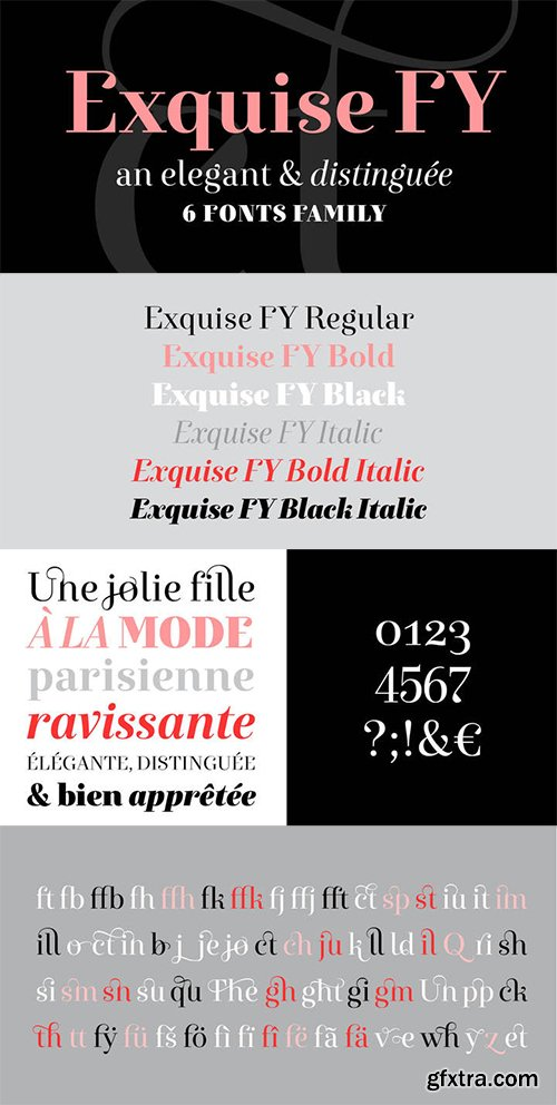 Exquise FY Font Family - 5 Fonts $300