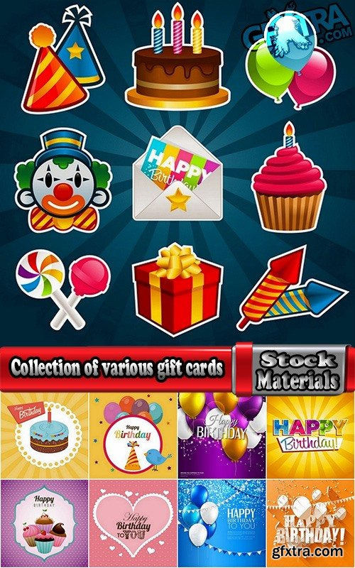 Collection of various gift cards vector images #2-25 Eps