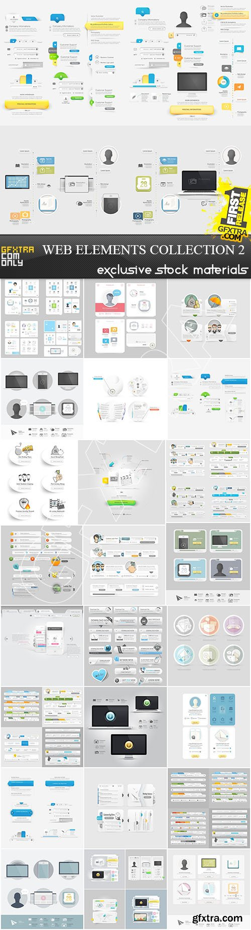 Web Elements Collection 2, 25xEPS