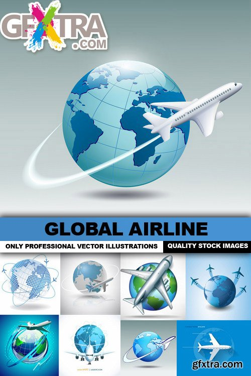 Global Airline - 25 Vector