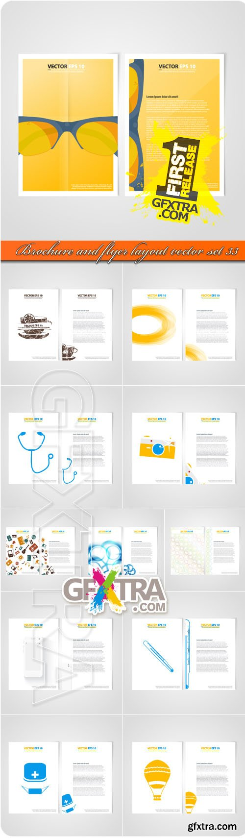 Brochure and flyer layout vector set 33