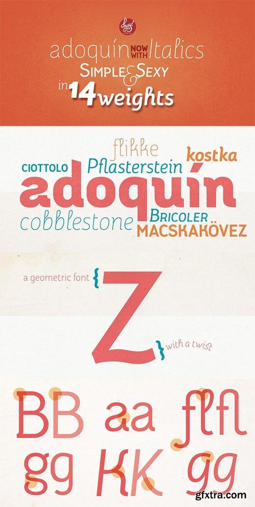 Adoquin Font Family - 14 Font $140