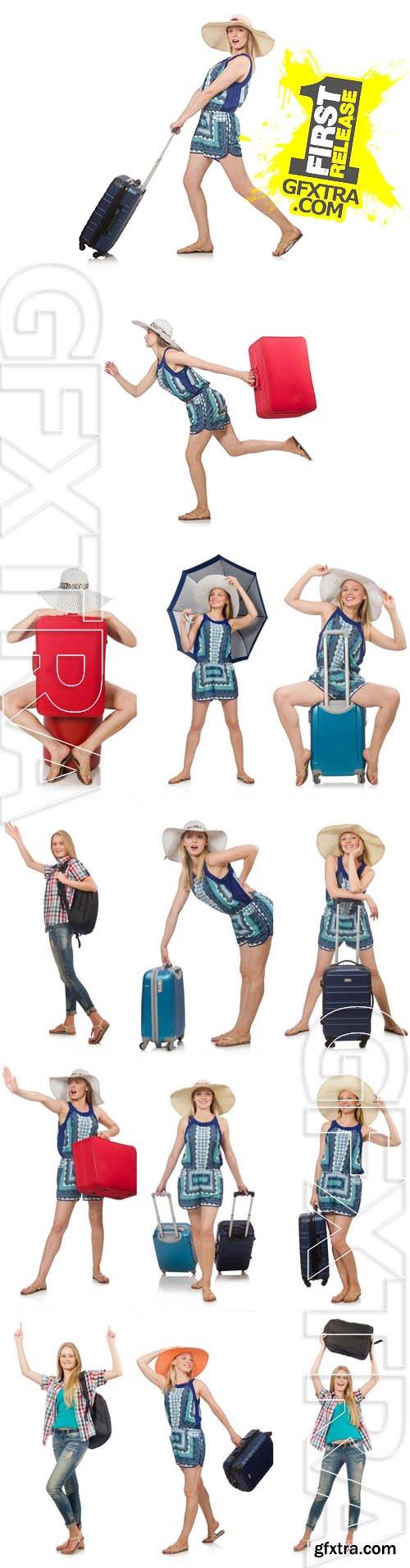 Stock Photos - Woman with Travel Bag