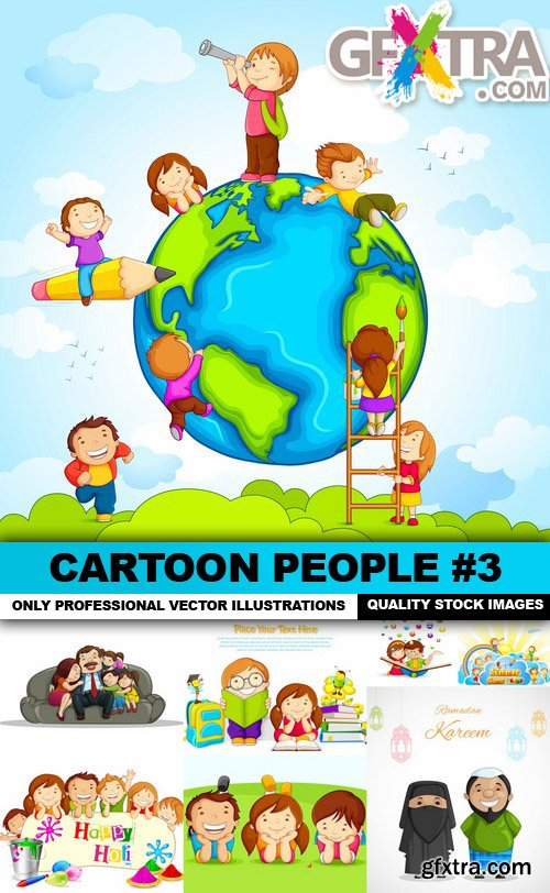 Cartoon People #3 - 25 Vector