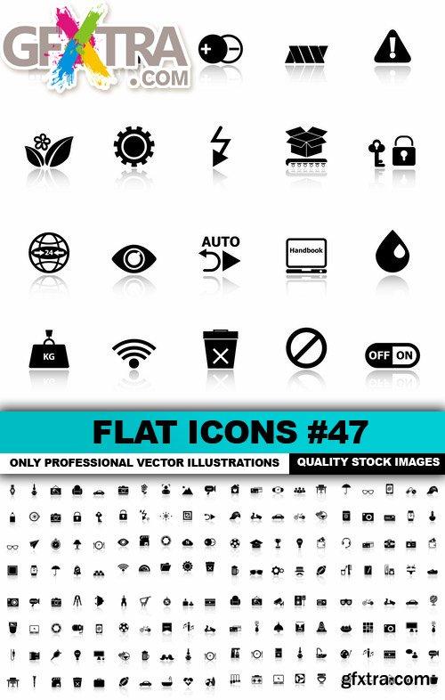 Flat Icons #47 - 25 Vectors