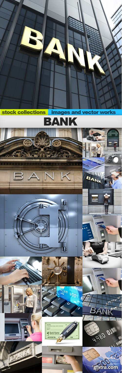 Bank,25 x UHQ JPEG