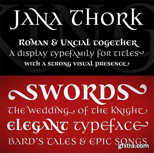 Jana Thork Font Family - 8 Font $240