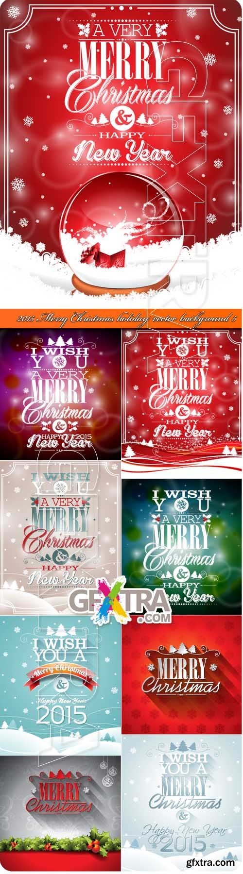 2015 Merry Christmas holiday vector background 5