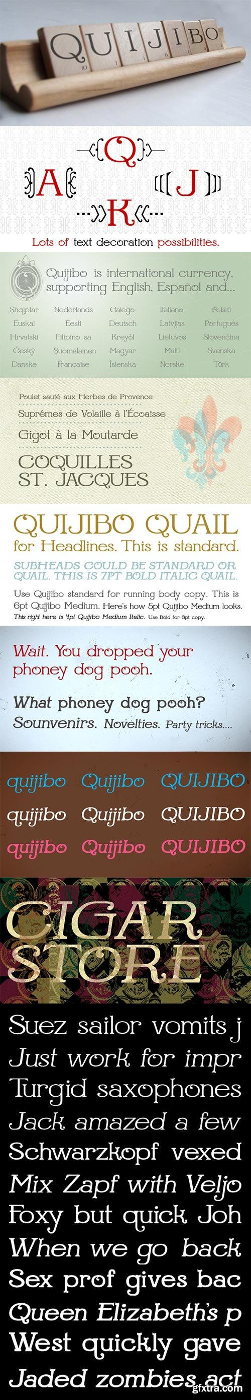 Quijibo Font Family with Webfonts $199