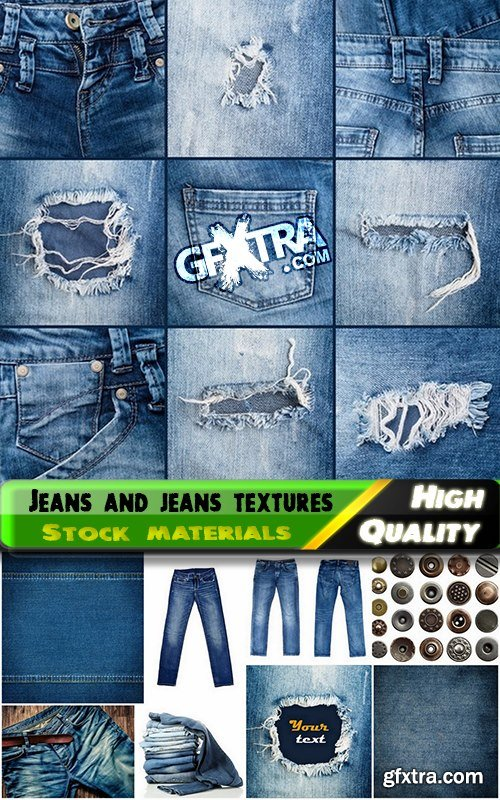 Jeans and jeans textures Stock images - 25 HQ Jpg