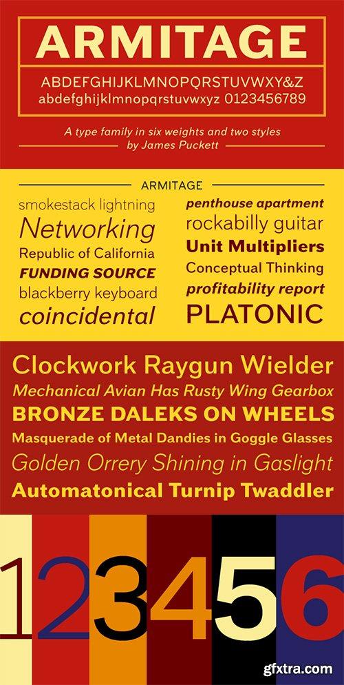 Armitage Sans Font - 12 Font 360$