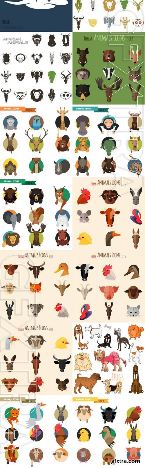 Vector - Animals Icons