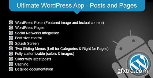 CodeCanyon - Ultimate WordPress App v1.2 - Posts and Pages