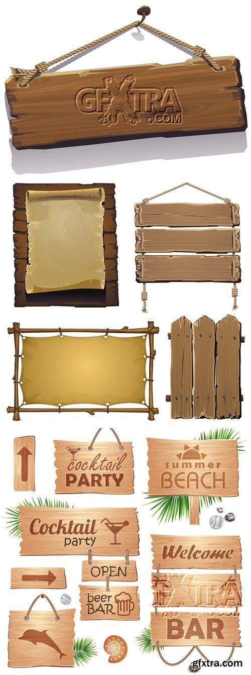 Vintage Wooden Boards Vector